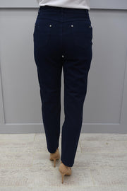 Marble Navy Cropped Jean Skinny Soft Leg Jeans - 2400 103