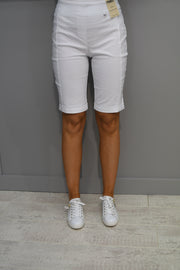 Just White White Blouse With Pipping Leopard Print Detail - 42610 010