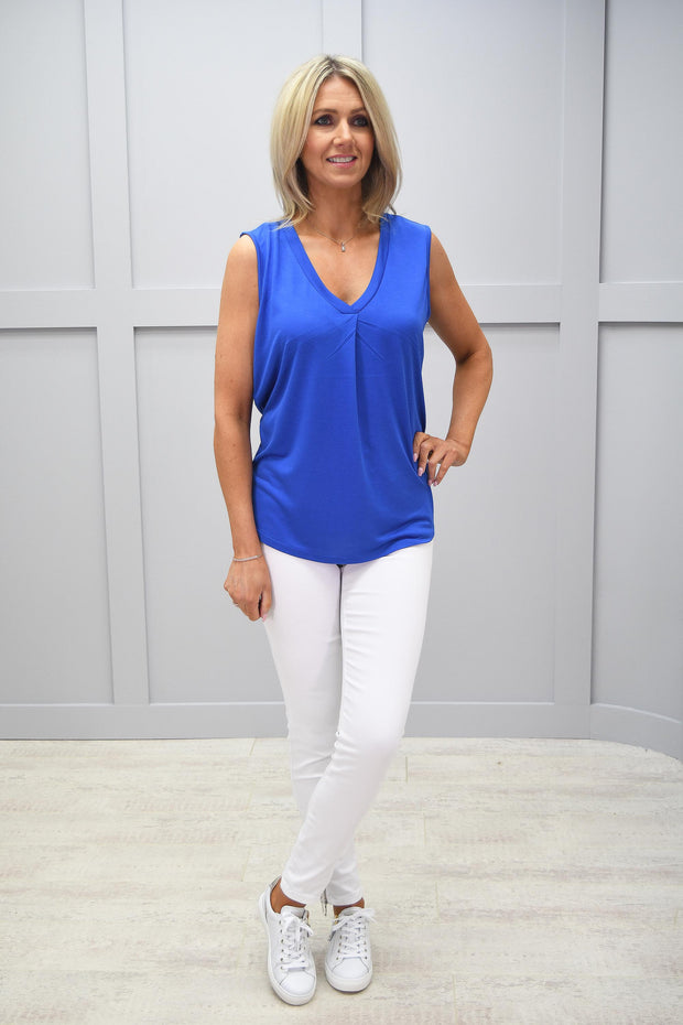 Marble Blue V Neck Top - 5237 177