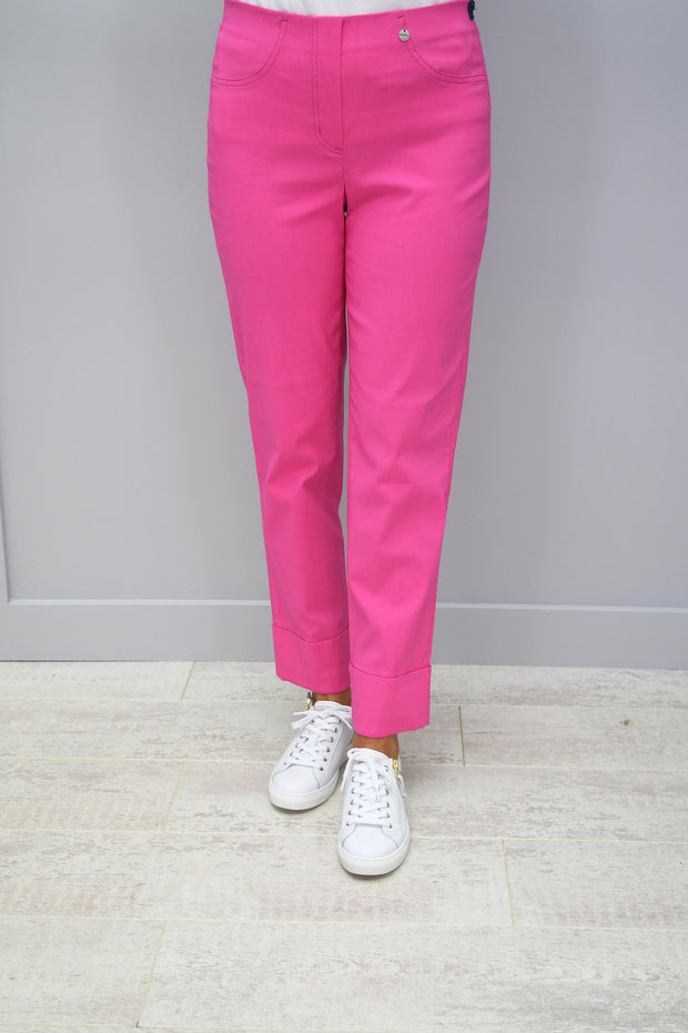 Robell Bella Candy Pink 7/8 Trousers - 51568 5499 431
