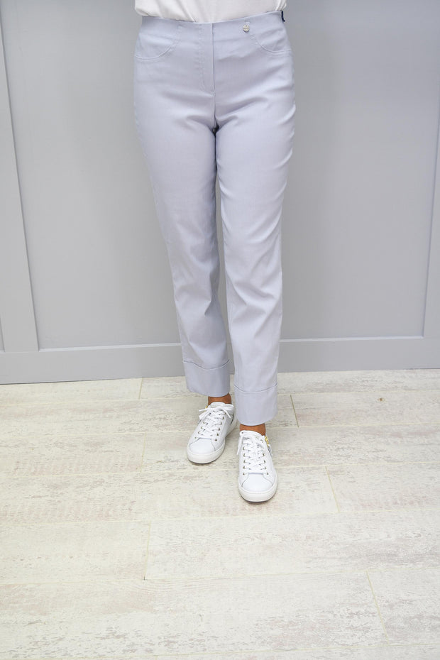 Robell Bella Pearl Grey 7/8 Trousers - 51568 5499 91