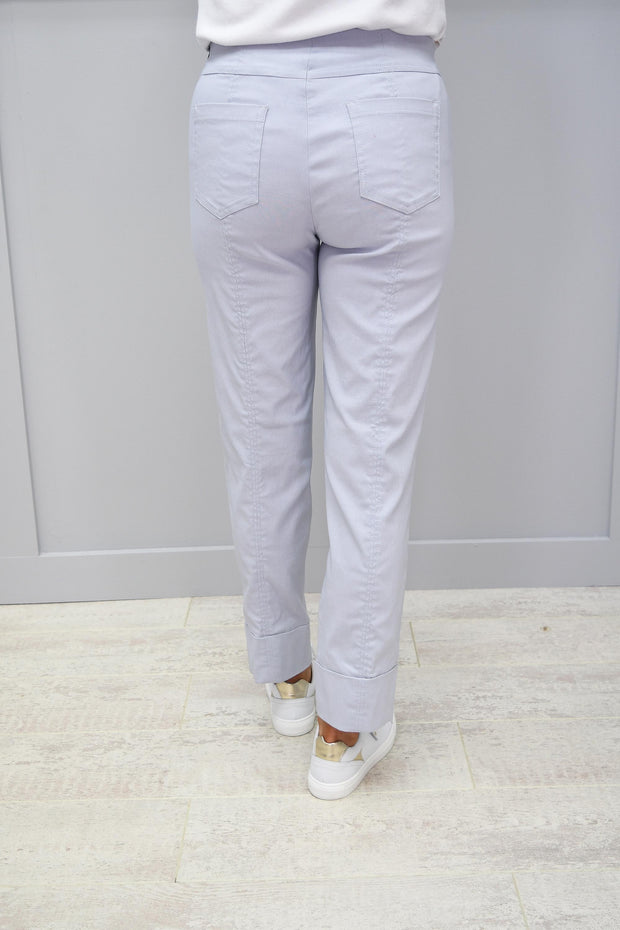 Robell Bella Pearl Grey Trousers - 51568 5499 91