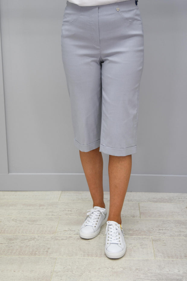 Robell Bella Silver Grey Shorts - 51625 5499 920