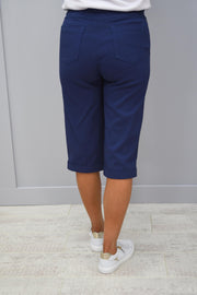Robell Bella Air Force Blue Shorts - 51625 5499 68