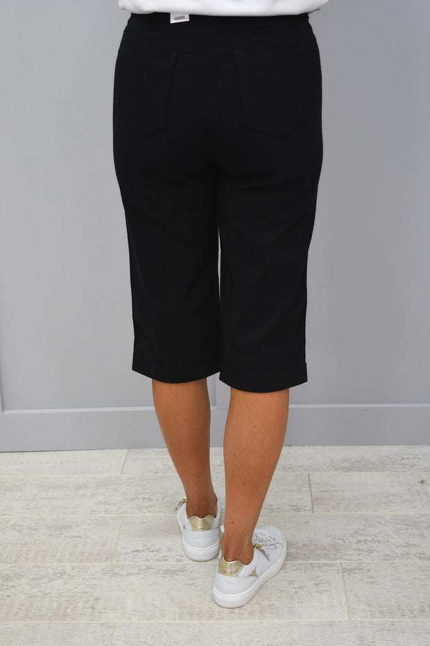 Robell Bella Black Shorts - 51625 5499 90