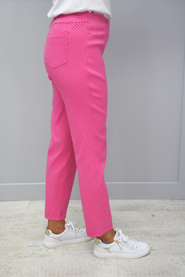 Robell Bella 09 Pink Pattern Trousers