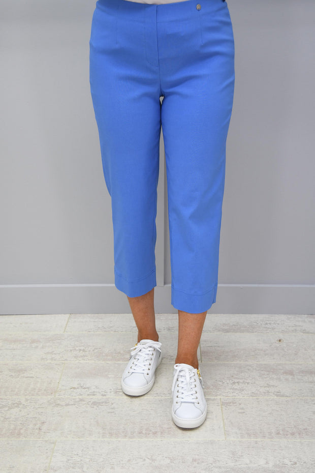 Robell Marie Cornflower Blue Cropped Trousers- 51576 5499 600