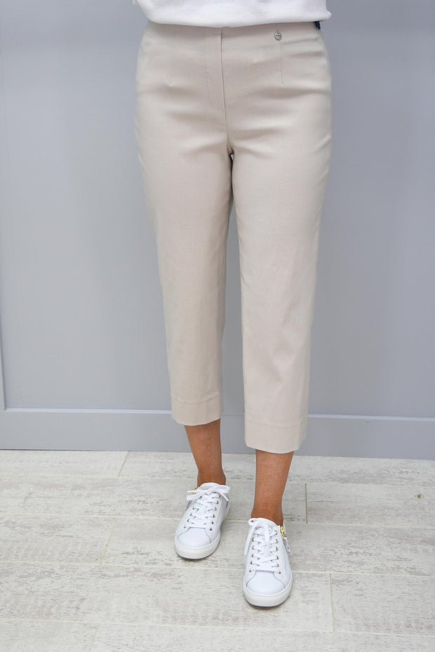 Robell Marie Beige Cropped Trousers - 51576 5499 14