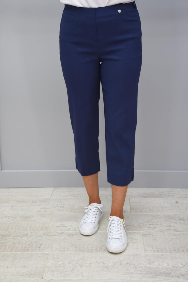 Robell Marie Cropped Trousers Air Force Blue - 51576 5499 68