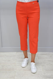 Robell Marie Orange Cropped Trousers - 51576 5499 321