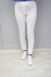 Robell Bella White Trousers - 51568 5499 10
