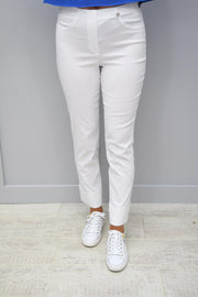 Robell Bella White 7/8 Trousers - 51568 5499 10