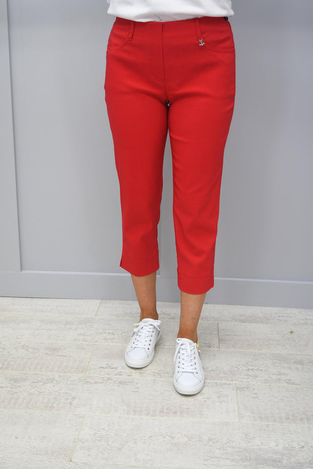Robell Golf Trousers Red Lexi 07- 52677 5499 40