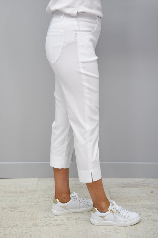 Robell Golf Trousers White Lexi 07- 52677 5499 10