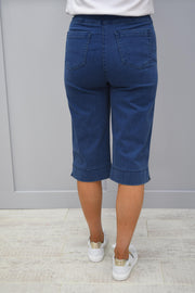 Robell Blue Denim Material Short - 51489 5448 64