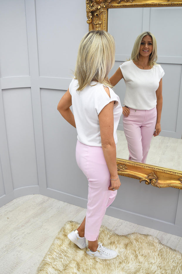 Robell Marie Ballet Slipper Pink Cropped Trousers - 51576 5499 410