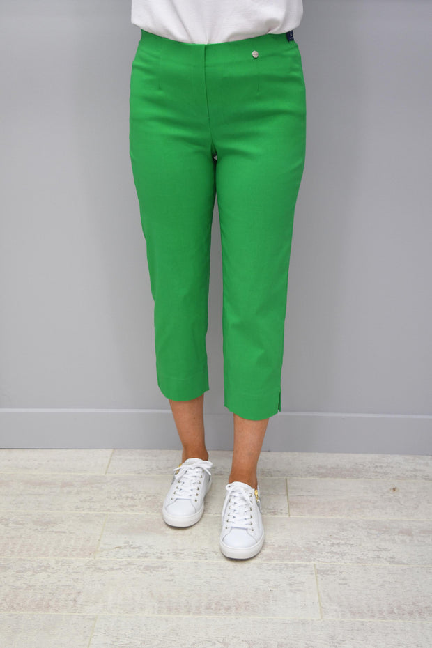 Robell Marie Green Cropped Trousers - 51576 5499 820