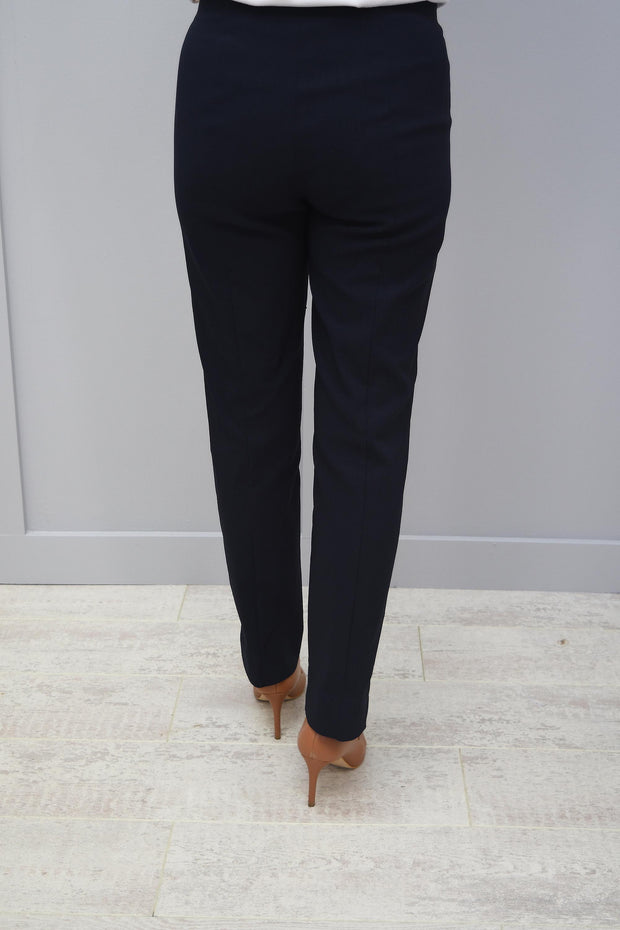 Robell Marie Fleece Trousers Navy 69 - 51412 54025