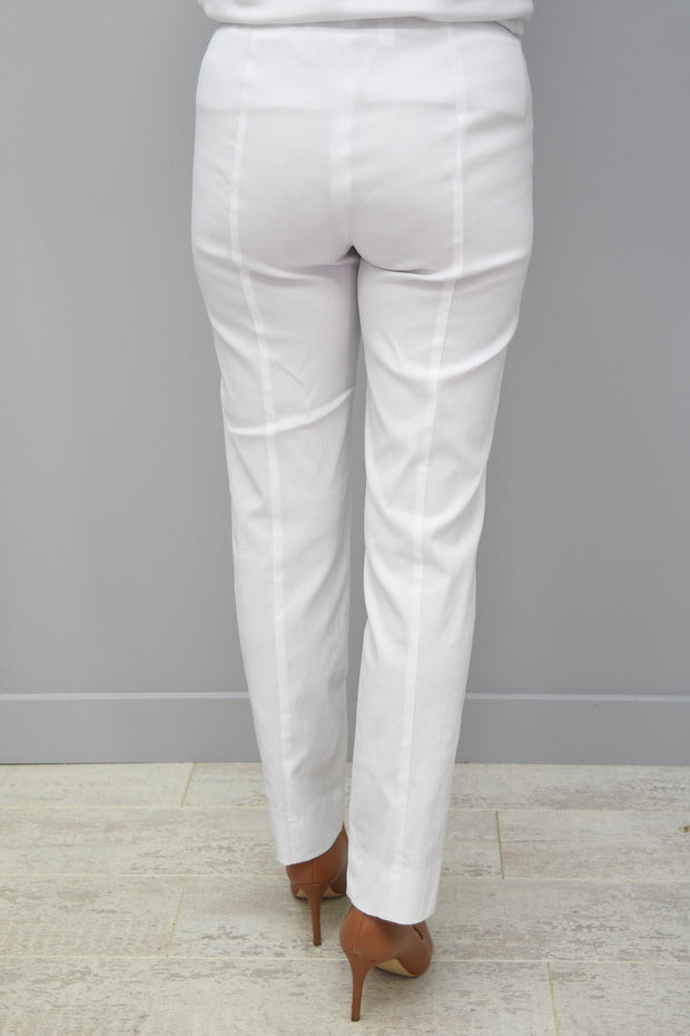 Robell Marie White Trousers Petite - 51412 5499 10