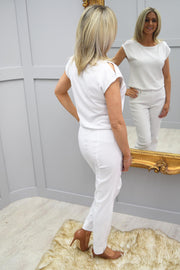 Robell Marie Trousers White 10 - 51412 5499