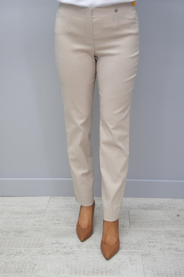 Robell Marie Full Length Trousers Beige 14 - 51412 5499 14