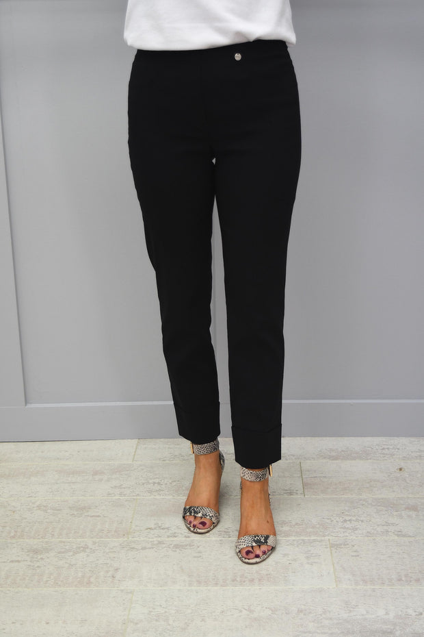 Robell Bella Black 7/8 Trousers - 51568 5499 90