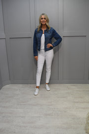 Just White Pink Colourful Mesh Print Jacket - 42532 325