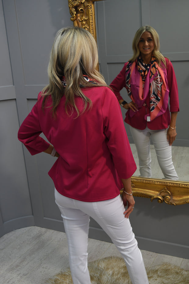 Just White Sleeveless White Top With Pink Detail - 42655 015