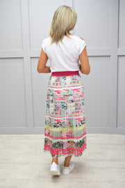 Just White Pink Multicoloured Skirt - 42584 325