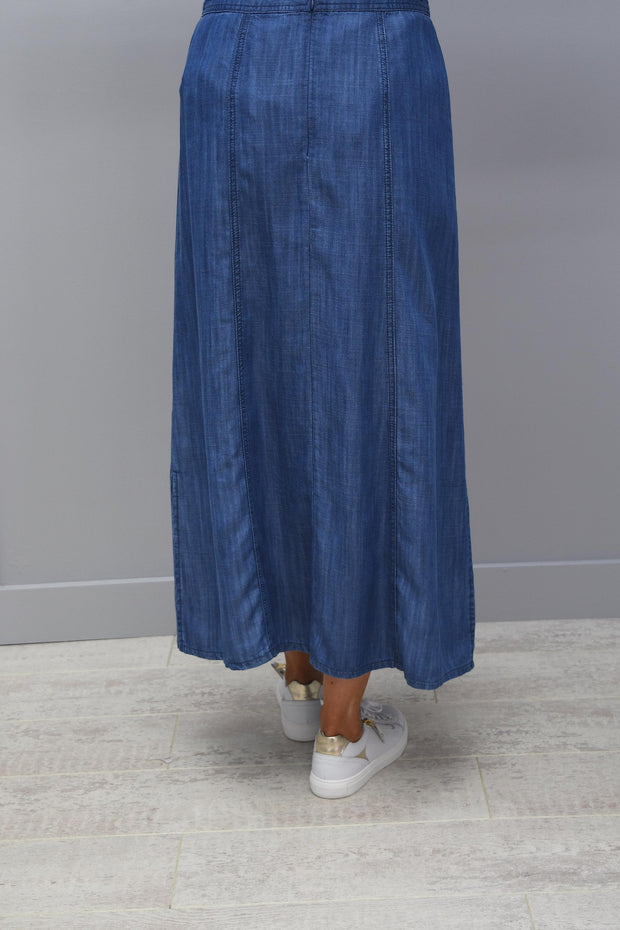 Barbara Lebek Denim Blue Long Skirt- 65280002 85