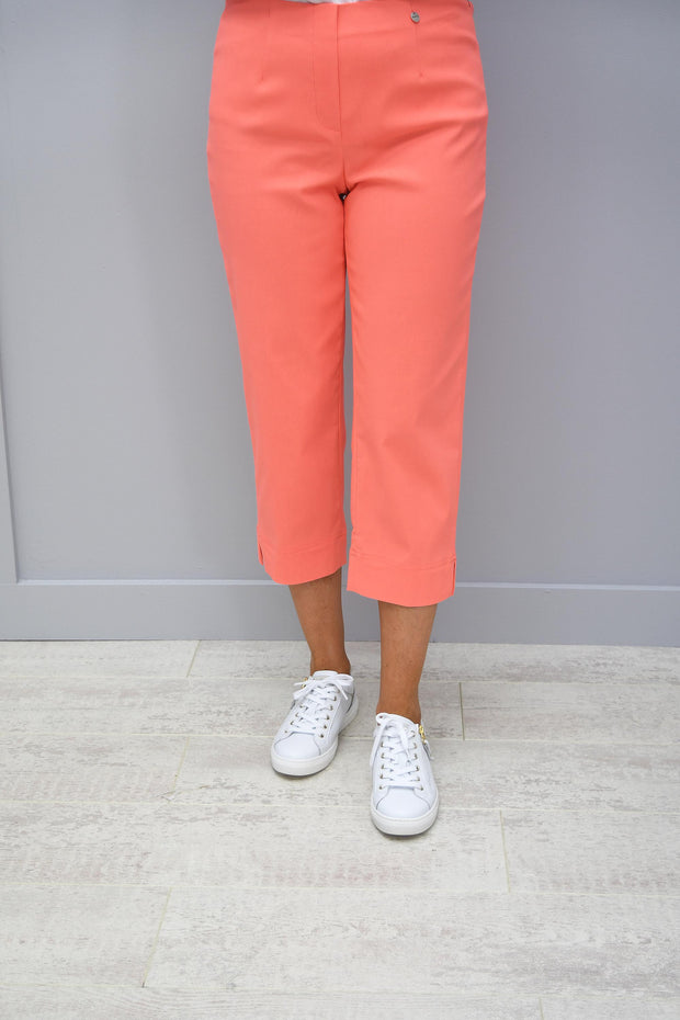 Robell Marie Bright Orange Cropped Trousers - 51576 5499 310