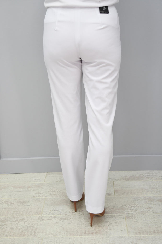 Robell White Jacklyn Trousers 10 - 51408 5689 10