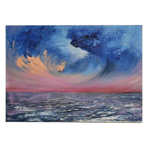 "Painting oil on canvas ""Sea at sunset"""