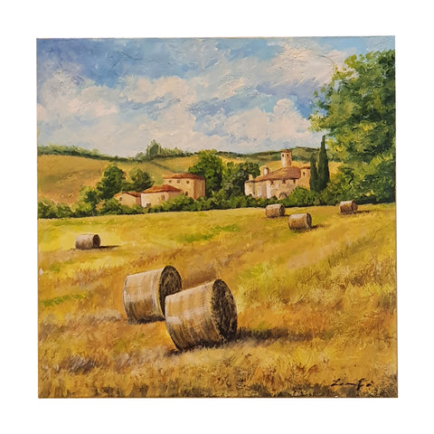 Painting on canvas harvest season