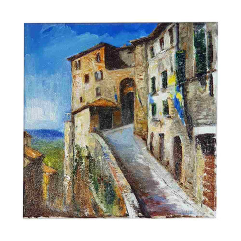 Tuscany painting on canvas with view of Montepulciano