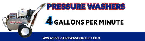 4 GPM COLD WATER BELT DRIVE PRESSURE WASHERS