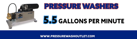 5.5 GPM COLD WATER BELT DRIVE PRESSURE WASHERS