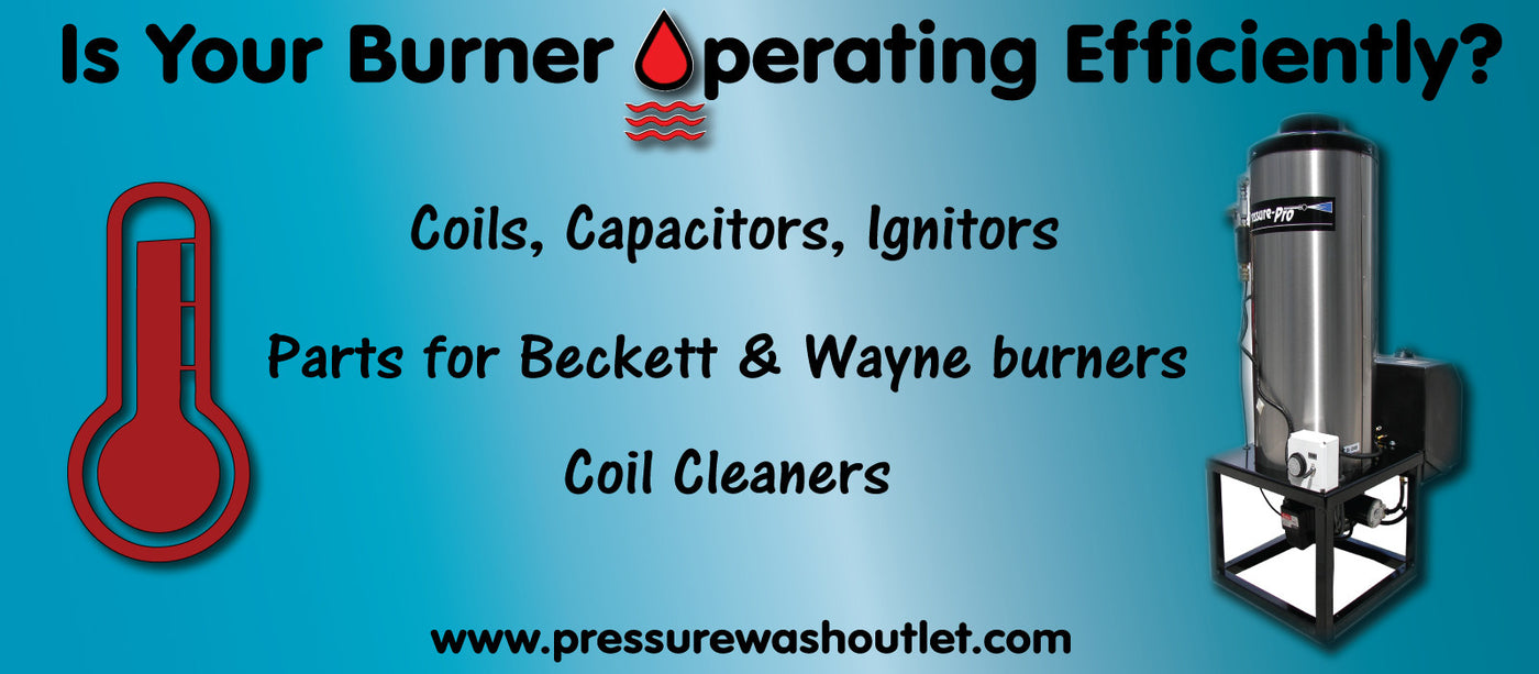 BURNERS, MOTORS, PARTS & CLEANERS