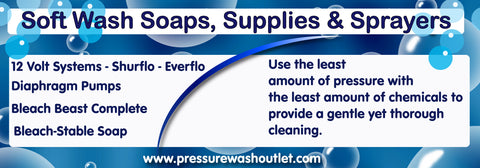 SOFT WASH SOAPS, SUPPLIES & SPRAYERS