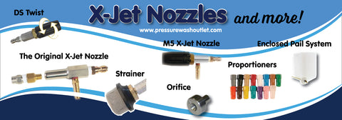 X-JET NOZZLES, PROPORTIONERS & REPLACEMENT PARTS
