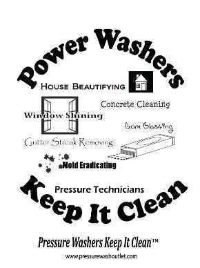 (30017) Power Washers Keep It Clean - Large
