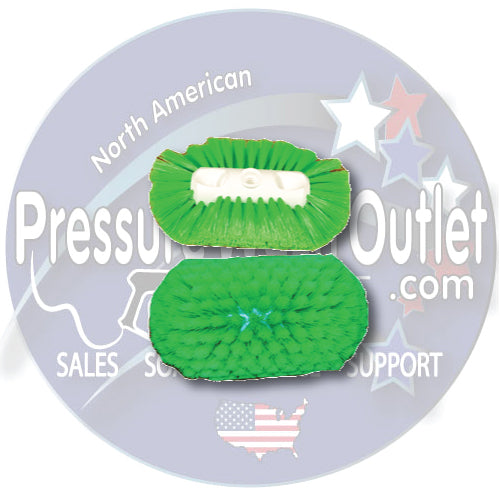 "(6294) GREEN NYLON 10"" ALL DIRECTION WASH BRUSH"