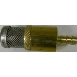 (6538) HEAVY WT. CHEMICAL STRAINER, BRASS W/CHECK VALVE