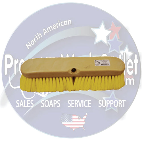 "(6280) YELLOW 14"" WASH BRUSH"