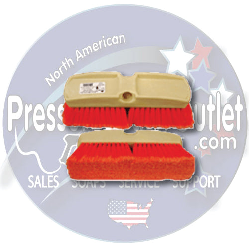"(3305) 10"" SOFT ORANGE WASH BRUSH - ACID CLEANERS"