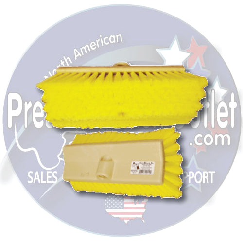 "(6287) YELLOW 10"" BI-LEVEL WASH BRUSH"