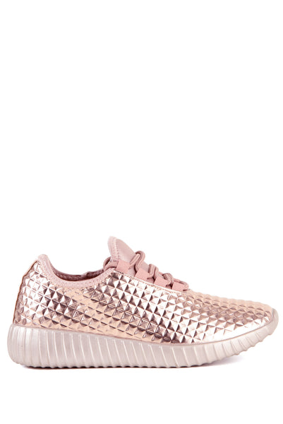 Faux Feezy Rosé Trainers - House of W