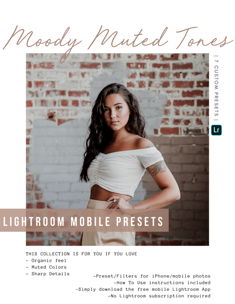 Moody Muted Tones Lightroom Mobile Presets - House of W