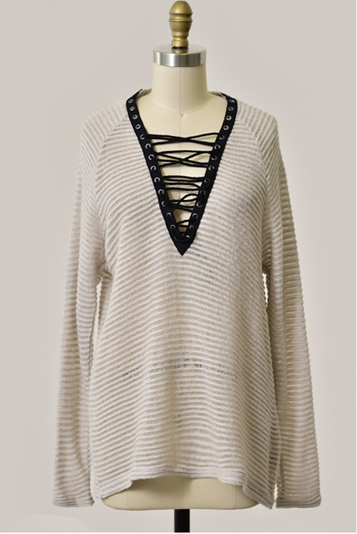 Tie Me Up Sweater - House of W