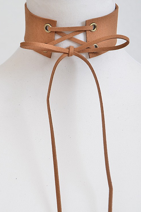 Corset Camel Choker - House of W